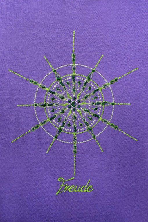 Kristall Freude gestickt Großaufnahme Kinder T-Shirt in lila