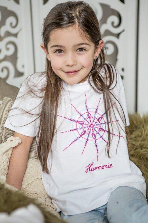 T-Shirt mit Kristall Harmonie in weiß für Kinder
