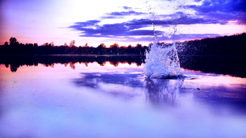 See beim Sonnenuntergang