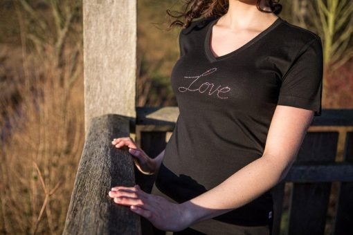"T-Shirt ""Love"" mit original Swarovski Elements"