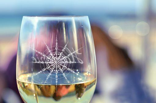 Weinglas Nahaufnahme Kristall Harmonie